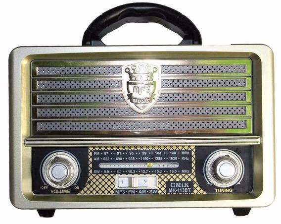 Rádio Fm Am Sw Entrada Usb Retrô