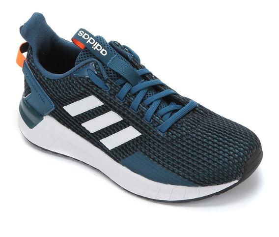 Tênis adidas Questar Ride Masc. Preto E Azul 14553 Original