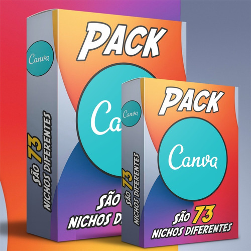 Imagem 1 de 10 de Pack Canva  Artes Editáveis - 73 Nichos Diferentes + Bônus
