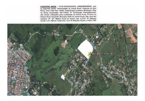 Imagem 1 de 7 de Área  Residencial Com 24.200 M² À Venda, Capão Grosso, São José Dos Campos. Ar0006 - Ar0006