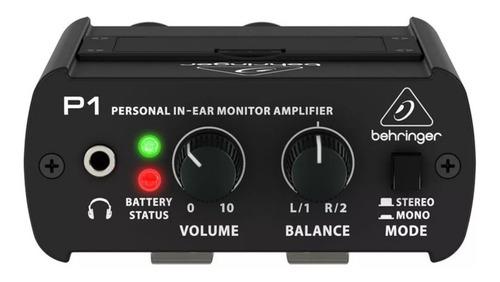 Imagen 1 de 7 de Amplificador Monitoreo Personal Behringer P1 + Garantía
