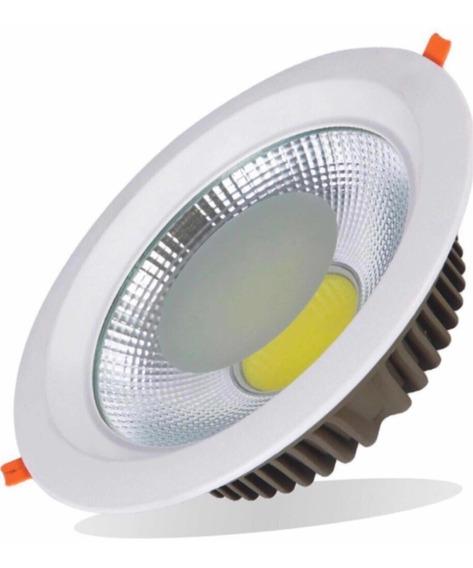 8 Kit Luminária Cob Dow Light Spot 6000k 30w Pe Direito Alto