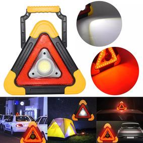 Triângulo De Emergência Carro Acampamento Acidente Led Solar