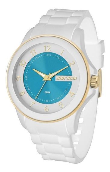 Relógio Mormaii Branco Luau Mo2035an/8b Garantia De 1 Ano
