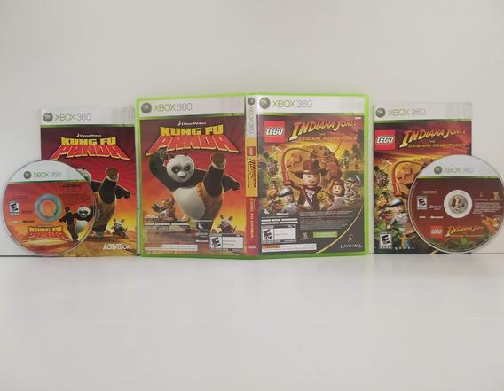 Lego Indiana Jones 1 + Kung Fu Panda Xbox 360 Completo