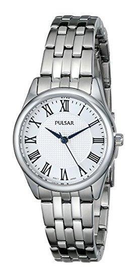 Pulsar Pg2013 Reloj De Cuarzo Japonés Plateado Con Visualiza