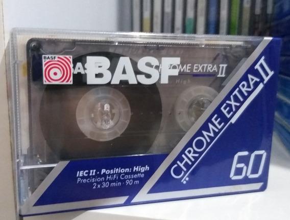 Fita Cassete Basf Chrome Extra 60 Lacrada Frete R$ 13 :)