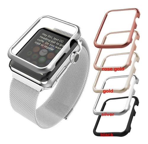 Imagem 1 de 9 de Case Protetor De Metal Para Apple Watch De 42mm