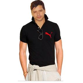 Camisa Polo Puma Preta