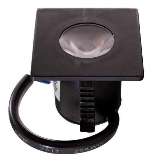 1x Kit C/2 Unidades Mini Embutido Para Moveis 1,2w 3000k Opus Eco Iluminação De Armários Nichos Prateleiras St1355