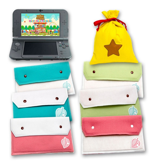 Case Para Nintendo New 3ds Xl Animal Crossing + Bell Bag