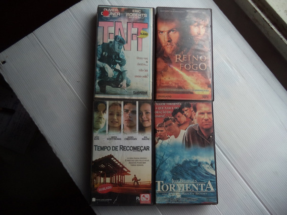 Lote Filmes Vhs Tnt Tormenta/.. Aventura 4 Fitas Dubladas