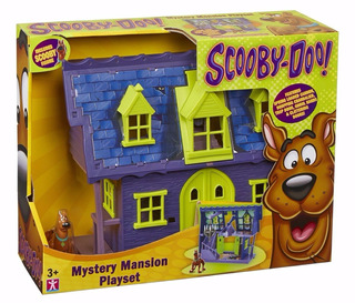 Scooby Doo Mansion Del Misterio + 1 Figura Original Intek