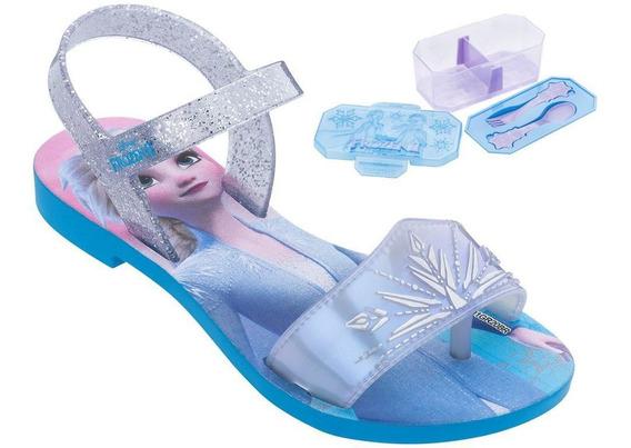 Sandalia Frozen Magic Snow Com Lancheira 1-00138 / 1-00139