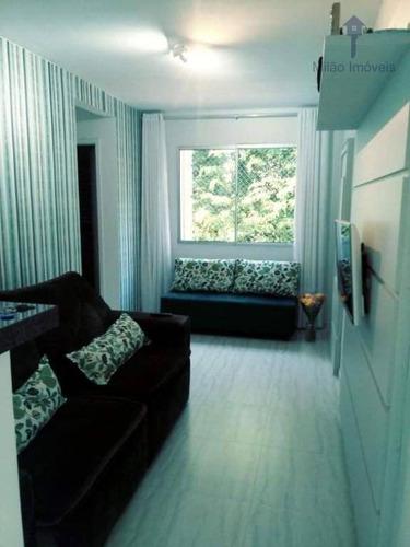 Apartamento 2 Dormitórios À Venda, 47 M², Condomínio Parque Sicília Em Votorantim/sp - Ap1450