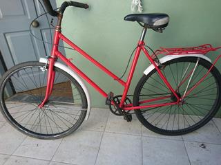 Bicicleta Vintaje De Mujer Rod 26