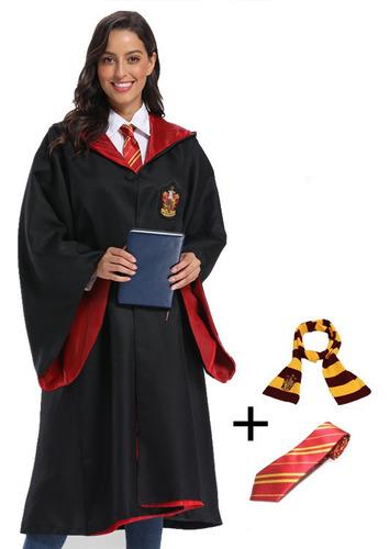 Imagen 1 de 5 de Desfraz Capa Potter 4 Casas Hogwarts Avenclaw Bufanda