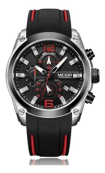 Relógio Megir 2063 Luxo Masculino Original Prova D