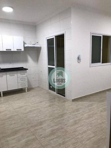Imagem 1 de 12 de Apartamento Com 2 Dormitórios Para Alugar, 53 M² Por R$ 1.500/mês - Vila Guiomar - Santo André/sp - Ap2020