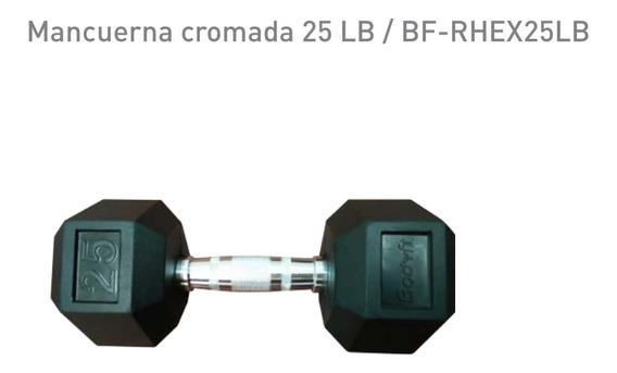 Un Par Mancuernas Pesas Hexagonal Recubierta 25lbs 11.3kg