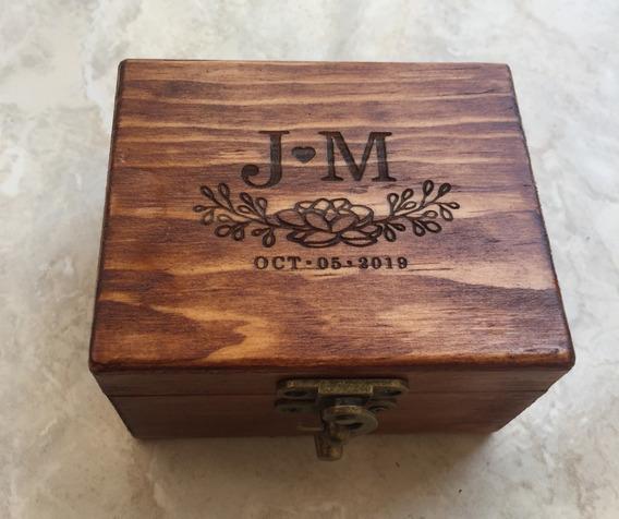 Caja Madera Personalizada. Anillos,boda, Xv, Piñatas, 14 Feb