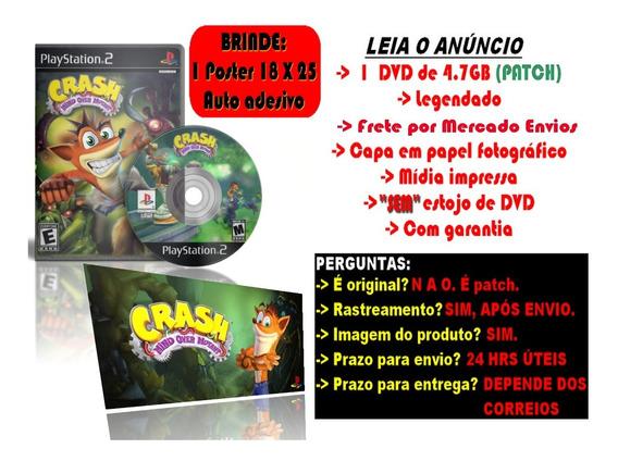 Jogo Crash Mind Over Mutant P/ Ps2 + Brinde Poster Adesivo