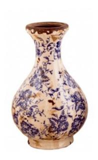 Florero De Ceramica Rustico Deco