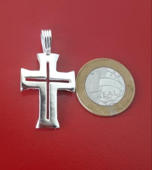 Pingente Crucifixo Centurião Prata Maciça Original