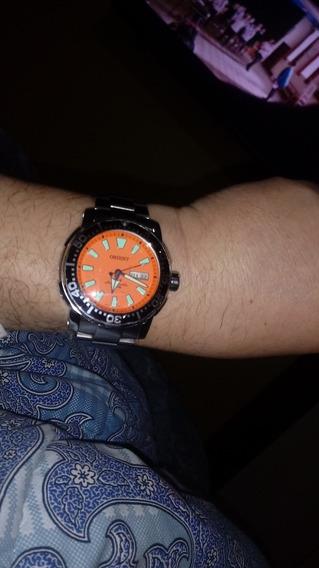 Relógio Orient Scuba Laranja