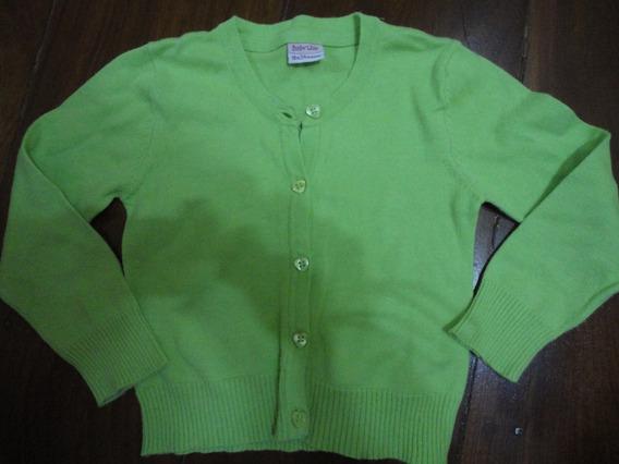 Blusa Lanzinha Verde Menina Cardigan Botao 18meses
