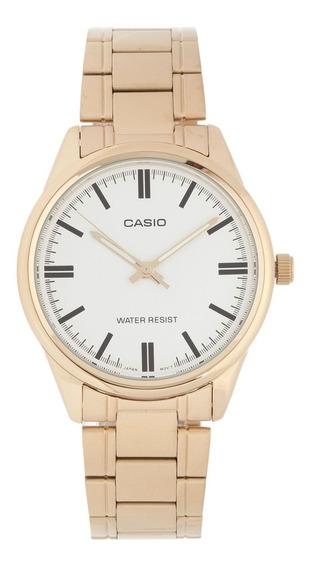 Relógio Feminino Casio Dourado Mtp-v005g-7audf - Dourado
