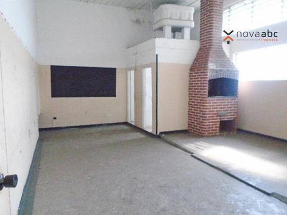 Salão Para Alugar, 350 M² Por R$ 4.000,00/mês - Parque Novo Oratório - Santo André/sp - Sl0056