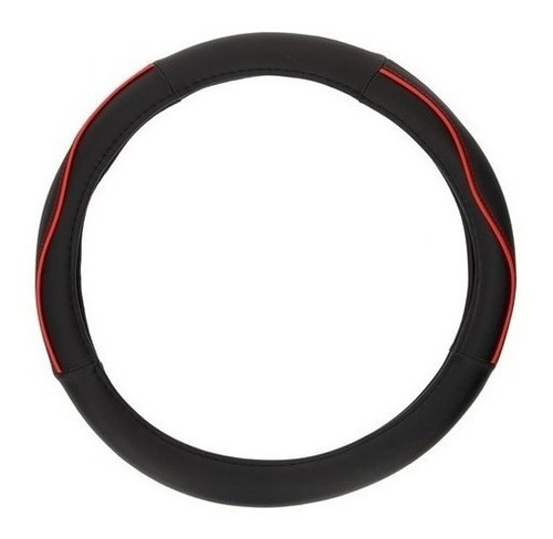 Imagen 1 de 2 de Cubrevolante Universal Color Negro/rojo Diametro 38