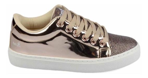 Zapatilla Sneaker Dama Urbana Brillo Comfort Moda New Tilda