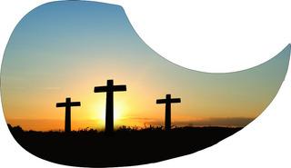 Escudo Palheteira Resinada Violão Aço Cross