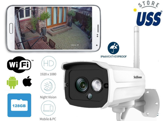 Camara Inalambica Ip Wifi Exterior Graba Android Ios Pc Hd