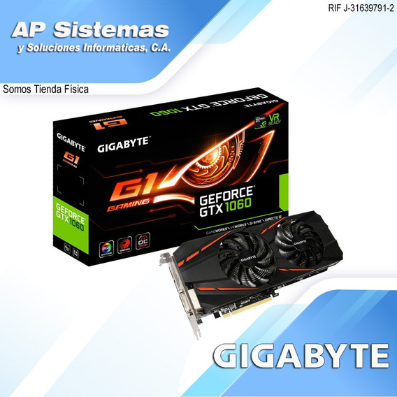 Tarjeta De Video Gigabyte Gtx 1060 G1 Gaming 6g