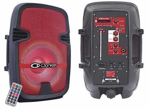 Bafle Amplificado 8 2,500w Pmpo Bluetooth Audioritmico Rojo