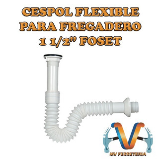 Cespol Flexible Para Fregadero De 1 1/2 Foset