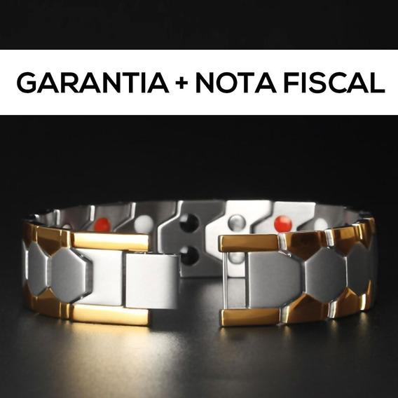 Pulseira Bracelete Indiano Aço Inox 18mm Prata Dourada + Nf