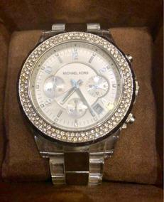 Relógio Feminino Michael Kors - Clear Plastic Silver Mk5397