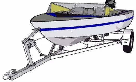 Projeto Carretinha Reboque Para Barco 4,7m.