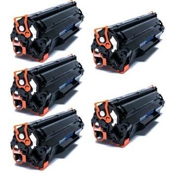 Kit 5x Toner Comp. Hp Cb435 Cb436 Ce285 Ce278