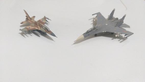 Lote De 2 Miniaturas De Aviões Militares Da Hogan Wings