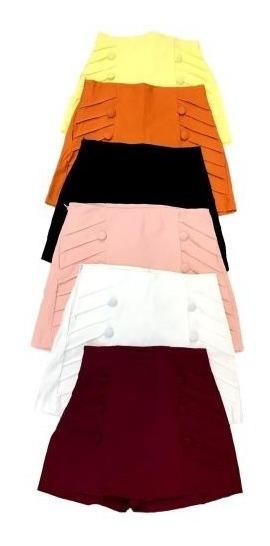 Shorts Saia Bengaline 6 Botões