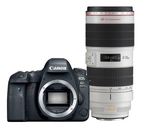 Canon 6d Mark Ii + Lente Canon 70-200mm F/4