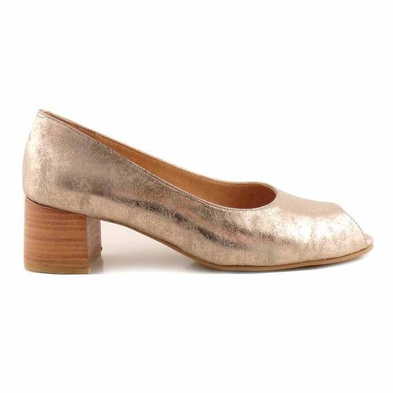 Zapato Vestir Cuero Briganti Mujer Boca De Pez - Mccz33015