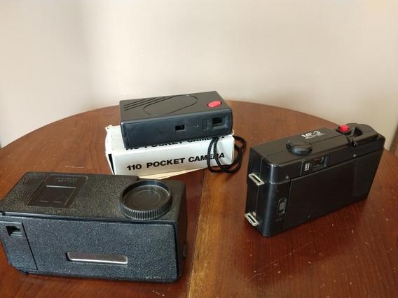 Lote De Câmeras Antigas, Kodak, Yashica
