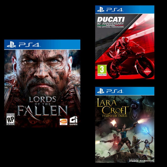 Lords Of The Fallen + Ducati + Lara Croft Ps4 2ª Digital Psn