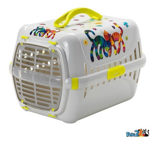 Transportadora Pelu2 Especial Con Siluetas Para Gato